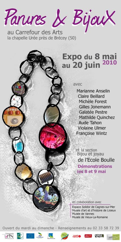 EXPO 'Parures et bijoux' - Carrefour des Arts, La Chapelle Urée (France) - 8 mai-20 juin 2010 dans Aude TAHON (FR) AFBIJ